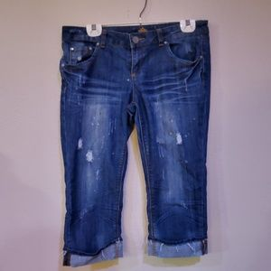 Almost famous crop distressed Jeans 11